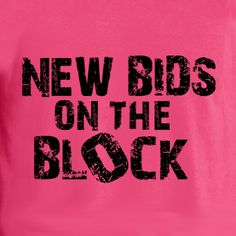 d89fc5400 Bid Day - New Bids On The Block Greek t-shirt design idea and template