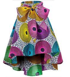 Shenbolen Women African Traditional Costume Flower Print Casual Dashiki Skirt (XX-Large,F) - Ankara Dresses, Shirts & African Print Skirt, African Print Dresses, African Dresses For Women, African Print Fashion, African Attire, African Wear, Modern African Fashion, African Print Clothing, African Style
