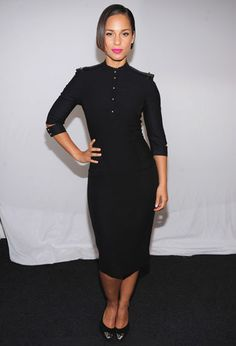 The Best Little Black Dresses of 2012 - Alicia Keys in Victoria Beckham Collection