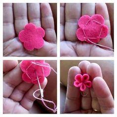 Flor de feltro: