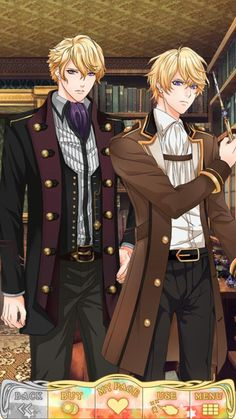 Klaus Goldstein and Elias Goldstein from Wizardess Heart shall we date 😍 Hot Anime Boy, Anime Guys, Dating Sim Game, Roman, Shall We Date, Blonde Guys, Bishounen, Anime Outfits, Perfect Man