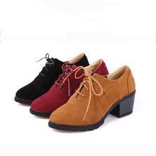 2016 recién llegado de mujeres de tacón medio con cordones zapatos casuales zapatos bajos de corte 3 Colors in tamaño 35-39 entrega gratuita(China (Mainland))