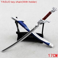 Cheap Key Chains, Buy Directly from China Suppliers: LOL key chain    lol Yasuolong swordkeychain with FREE HOLDER   Hot sale!              Size   &