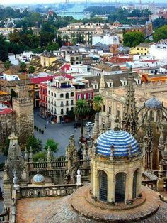 View of Sevilla from the Cathedral, Seville, Andalusia, Spain Places Around The World, Oh The Places You'll Go, Travel Around The World, Places To Travel, Places To Visit, Around The Worlds, Malaga, Madrid, Granada