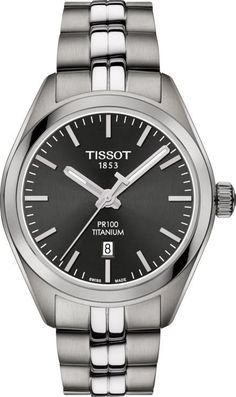 Tissot Watch PR100 Titanium Ladies #add-content #bezel-fixed #bracelet-strap-titanium #brand-tissot #case-depth-9mm #case-material-titanium #case-width-33mm #date-yes #delivery-timescale-call-us #dial-colour-grey #discount-code-allow #luxury #movement-quartz-battery #new-product-yes #official-stockist-for-tissot-watches #packaging-tissot-watch-packaging #style-dress #subcat-t-classicfemale #supplier-model-no-t1012104406100 #warranty-tissot-official-2-year-guarantee #water-resistant-100m