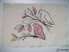 My Own Landscape Dreams: Invenções do final de semana - Bordado de pássaros.