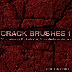 Crack 1 Brush Pack for Photoshop or Gimp | texturemate.com - Free Textures, Brushes, Patterns, and Design Articles!