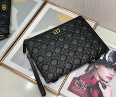 Christian Dior zippy clutch cannage lambskin leather handbag Dior Bags, Lambskin Leather, Christian Dior, Leather Handbags, Clutches, Chanel, Shoulder Bag, Classic, Dior Handbags