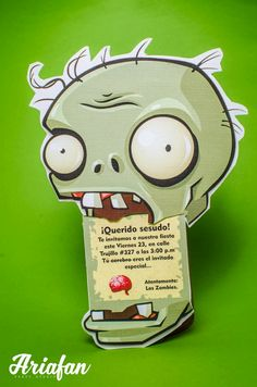 Plantas vs zombies Plants Vs Zombies, Zombies Vs, Zombie Birthday Parties, Leo Birthday, Zombie Party, Plantas Versus Zombies, Games Zombie, Plant Zombie, Party Invitations Kids