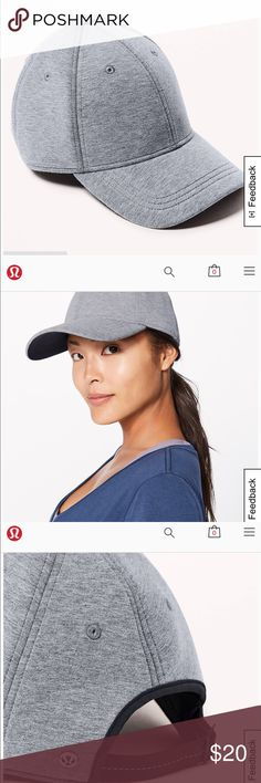 """lululemon athletica """"baller hat"""" Actual product is a little darker grey than the photos. This hat has never been worn. I received it as a gift and I never wear hats! Excellent condition. Adjustable strap on the back! lululemon athletica Other"""