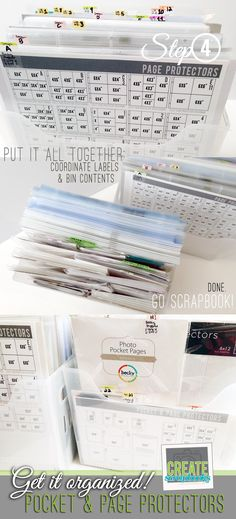 In 4 EASY steps createscrapbooks.com gives you step-by-step instructions on how to get your Project Life pocket and page protectors organized for easy scrapbooking!