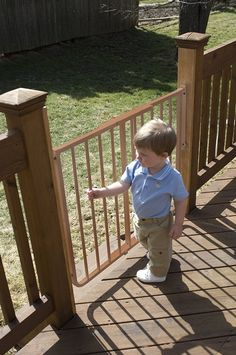 Stairway Special Baby/Pet Gate for Outdoors Colors: Brown > Awesome dog product. Click the image : Dog gates