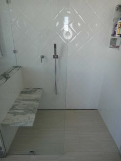 Modern Tile Shower   #Quickdrain #Proline Linear Drains Linear Drain, Tiled  Showers,