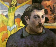 Paul Gauguin, Self Portrait with the Yellow Christ, 1890