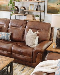 Nailhead-Accented Leather Power Reclining Sofa in BrownYou can find Reclining sofa and more on our website.Nailhead-Accented Leather Power Reclining Sofa in Brown Leather Reclining Sofa, Leather Sofa, Black Leather, Reclining Couch, Brown Leather Recliner, Farmhouse Living Room Furniture, Sofa Furniture, Coaster Furniture, Rustic Furniture