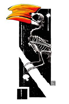 "Limited edition (10) token of Skeenee´s "" Hornbill Skeleton"" available on the Ethereum Blockchain through www.makersplace.com. #cryptoArt #skeenee #cryptoartist #skull #skullart Sumi Ink, Anatomy Drawing, Skull Art, Blockchain, Skeleton, Watercolor Paintings, Digital Art, My Arts"