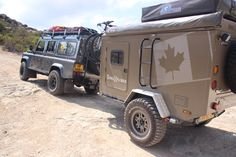 Landrover Defender and self made Terra Trailer perfect Overland OffRoad combination Toy Hauler Camper, Trailer Tent, Off Road Camper Trailer, Trailer Plans, Trailer Build, Camper Trailers, Travel Trailers, Adventure Trailers, Best Trailers