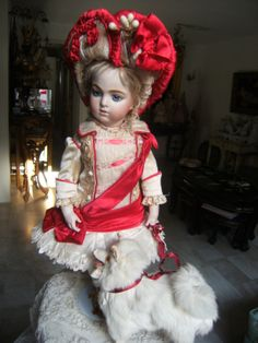 My collection of antique French outfits for Jumeau Bru Steiner or other French doll.