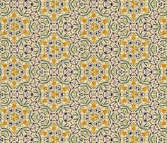 talavera floral hex tiles fabric by wren_leyland on Spoonflower - custom fabric