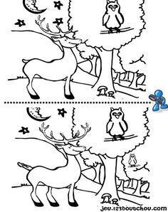 Jeux des 7 différences ' animaux ' gratuits à imprimer pour enfants - jeux des 5 différences - activite.assistante-maternelle.biz Speech Language Pathology, Speech And Language, Perception, Dots And Boxes, Word Ladders, Magic Squares, Number Puzzles, Hidden Pictures, Activity Sheets
