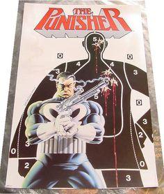 from $45.0 - Vintage #Marvel Comis Punisher 1987 Poster