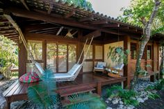 Belong anywhere with Airbnb. Bamboo House Bali, Bamboo House Design, Wooden House Design, Tropical House Design, Tiny House Design, Tropical Houses, Bahay Kubo Design Philippines, Modern Filipino House, Bungalow