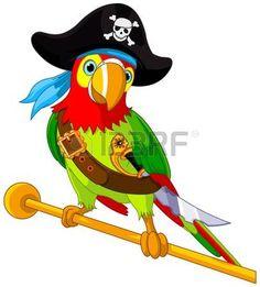 Ilustración del loro del pirata