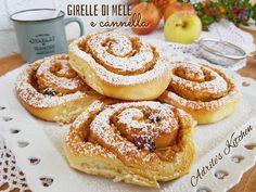 girelle cannella mele Apple Recipes, Sweet Recipes, Bakery Recipes, Dessert Recipes, Croissants, My Favorite Food, Favorite Recipes, Little Cakes, Vegan Cake