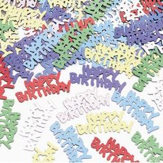 sprinkling metallic happy birthday confetti on your party tables is the final touch to your party decorations Glitter Party Decorations, Party Table Decorations, Halloween Party Decor, Halloween Cat, Happy Birthday Theme, Birthday Party Tables, Online Party Supplies, Table Confetti, Party Shop