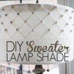 DIY Sweater lampshade Tutorial