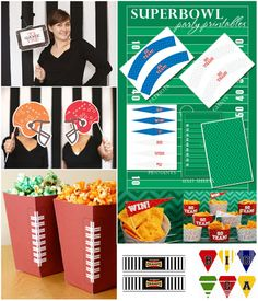 Bird's Party Blog: Super Bowl FREE Party Printables