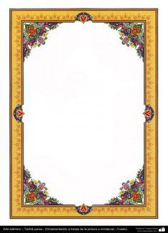 Arte islámico – Tazhib persa - cuadro - 69 | Galería de Arte Islámico y Fotografía