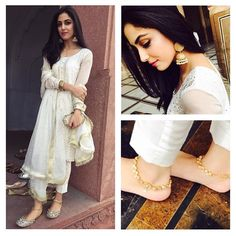 Maya Ali is the rising star of our showbiz industry who is not only liked for her acting and looks but also for her down-to-earth nature. Pakistani Outfits, Indian Outfits, Pakistani Clothing, Estilo India, Maya Ali, Desi Wear, Pakistan Fashion, Desi Clothes, Cute Celebrities