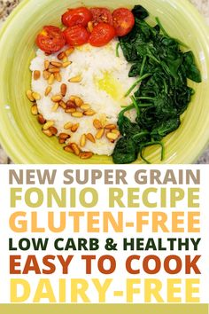 Try a new super grain with this fonio recipe. It is a wonderful grain bowl that can be enjoyed for breakfast, lunch, or dinner! Diabetic Breakfast Recipes, Diabetic Snacks, Easy Healthy Breakfast, Healthy Meal Prep, Lunch Recipes, Gourmet Recipes, Healthy Snacks, Dinner Recipes, Healthy Dishes