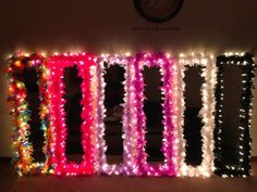 Diy fur mirror w/ lights ((not my picture))