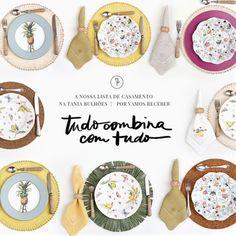 Jogos americanos redondos e coloridos by Tania Bulhões para decorar a mesa!