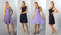 This is an awesome idea-- especially for me who like to roll out of bed and put something on regardless of if it's inside out or backwards! Betabrand Plum 360 Reversible Dress