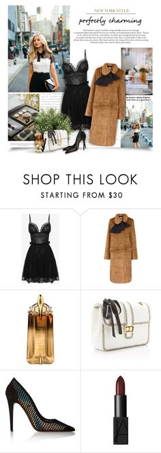 """Perfectly Charming"" by thewondersoffashion ❤ liked on Polyvore featuring Zac Posen, Alexander McQueen, Isa Arfen, Thierry Mugler, Monique Lhuillier, Tamara Mellon, NARS Cosmetics and Jura"