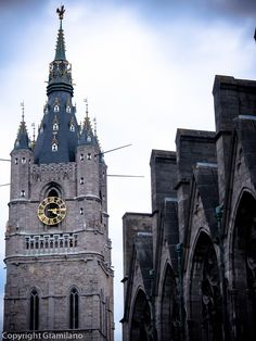 Patershol (priest's hole), Cathedral of Ghent, Belgium #church tower, historical #architecture