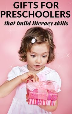 A reading specialist recommends the best gifts for preschoolers that are fun and educational perfect for giving for holidays, birthdays, and graduations. Preschool Family, Preschool Gifts, Preschool Books, Literacy Skills, Early Literacy, Reading Activities, Literacy Activities, Letter Matching Game