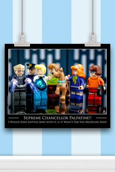 Scooby Doo / Star Wars™ Mashup - LEGO® Art Print