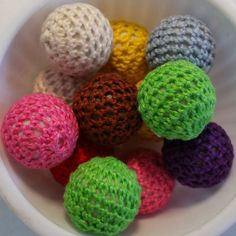 12  20 mm  Crochet BUBBLEGUM MIXED chunky beads by PegsClayGround