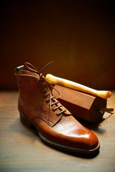 ethandesu: Norvegese The 403S boot in shrunken calf with Norvegese welt. Saint Crispin's Made to Measure at The Armoury