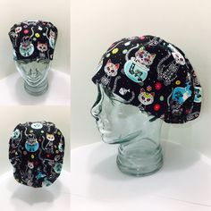 Plum Purple, Teal, Pink, Halloween Scrubs, Stethoscope Cover, Scrub Caps, Sugar Skull, Fabric Design, Cotton Fabric