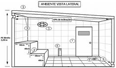 vista lateral Saunas, Sauna A Vapor, Building A Sauna, Vientiane, Steam Room, Spa Day, Playroom, Sweet Home, Floor Plans