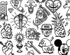 "Consulta este proyecto @Behance: ""Tattoo Flash 3"" https://www.behance.net/gallery/34321391/Tattoo-Flash-3"