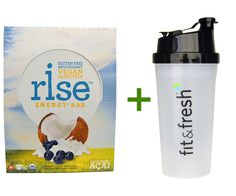 Rise Bar, Organic, Energy   Bars, Coconut Acai, 12 Bars, 1.6 oz (45 g) Each, Vitaminder, Power Shaker Bottle, 20 oz Bottle ** Check out this great product.