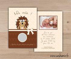 Faire-part naissance bébé original à gratter n°43 hérisson : Faire-part par cashemir