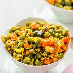 A simple, delicious and perfect blend of beans and carrot. I am sure the colorful composition is enough to drive you crazy!
