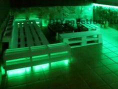 Floor with lite up seating